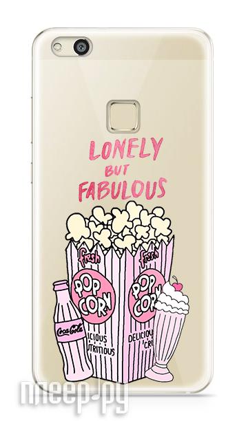 Аксессуар Чехол Huawei P10 Lite With Love. Moscow Silicone Popcorn 6301