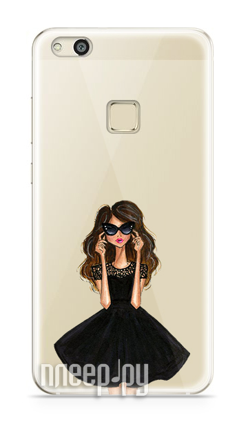 Аксессуар Чехол Huawei P10 Lite With Love. Moscow Silicone Girl in a Dress 6313