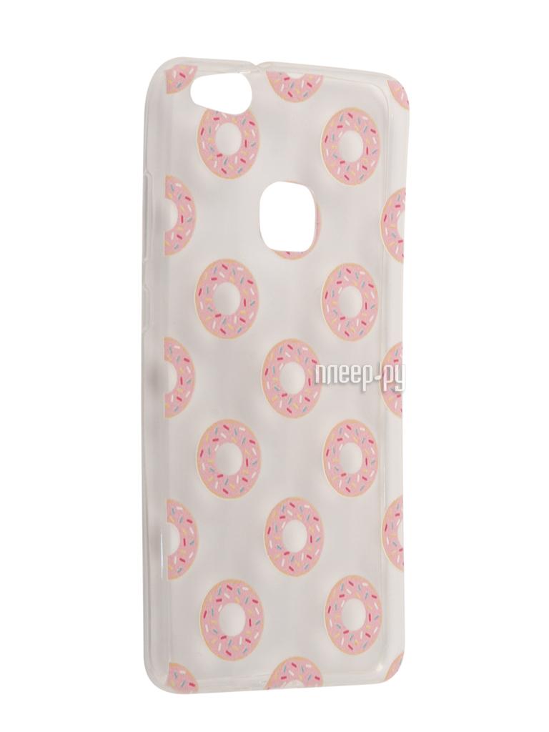 Аксессуар Чехол Huawei P10 Lite With Love. Moscow Silicone Donuts 6333