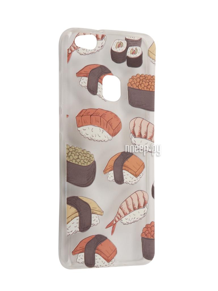 Аксессуар Чехол Huawei P10 Lite With Love. Moscow Silicone Sushi 6337