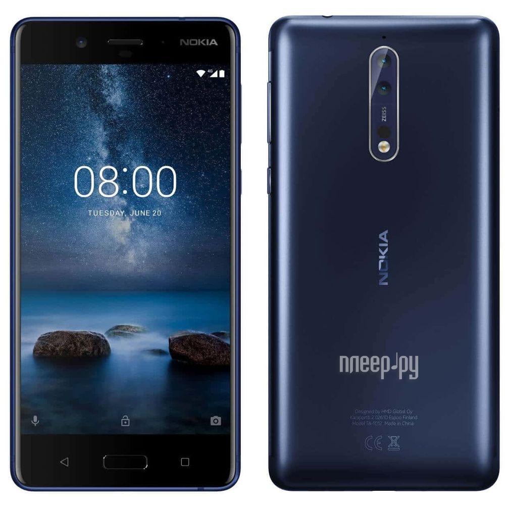 Сотовый телефон Nokia 8 Dual Sim Blue Mat