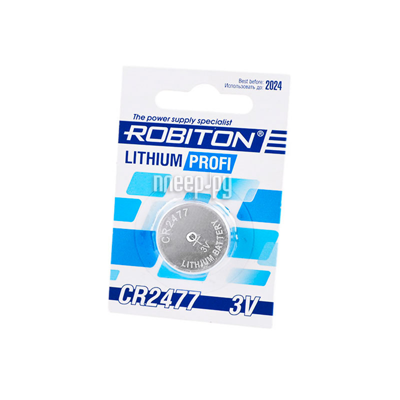 Батарейка CR2477 - Robiton Profi R-CR2477-BL1 14632