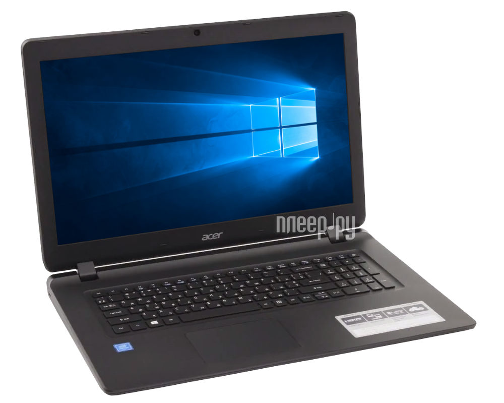 Ноутбук Acer Aspire ES1-732-C1EG NX.GH4ER.018 (Intel Celeron N3350 1.1 GHz / 4096Mb / 500Gb / DVD-RW / Intel HD Graphics / Wi-Fi / Bluetooth / Cam / 17.3 / 1600x900 / Windows 10 64-bit)