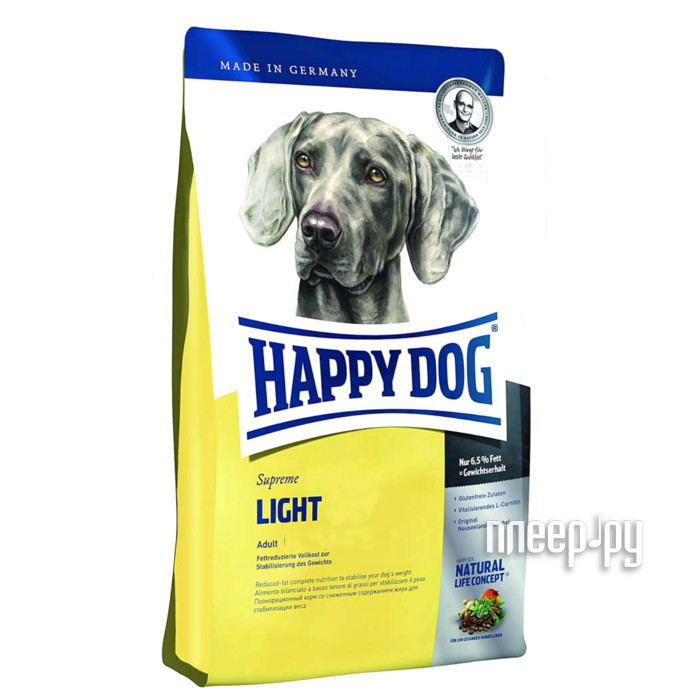 Корм Happy Dog Fit Well Light Adult Weight Control - 4kg 60086 для собак