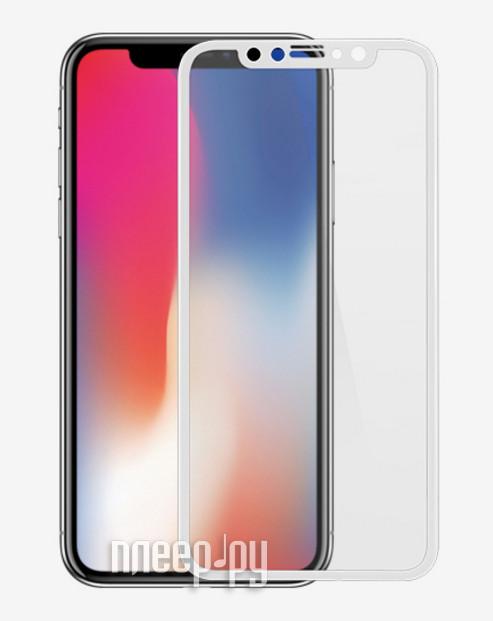 Аксессуар Защитное стекло Ainy Full Screen Cover 3D 0.2mm APPLE iPhone X White