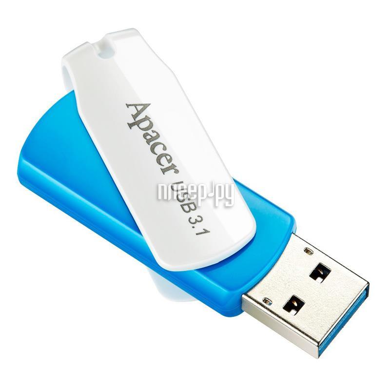 USB Flash Drive 8Gb - Apacer AH117 USB 2.0 Silver AP8GAH117S-1