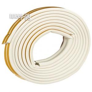 Купить Уплотнитель для окон D-профиль (резиновый) на клейкой основе White 10м 50-3-210