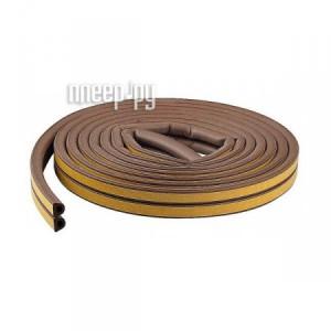 Купить Уплотнитель для окон D-профиль (резиновый) на клейкой основе Brown 10м 50-3-211
