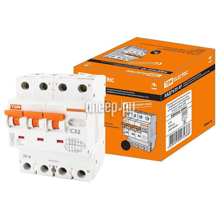 Дифференциальный автомат TDM-Electric АВДТ 63 4P C16 30мА SQ0202-0017 - фото 11