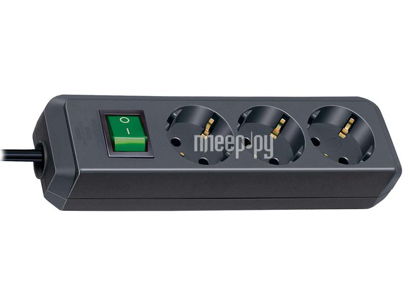 Сетевой фильтр Brennenstuhl Eco-Line 3 Sockets 1.5m Black 1152300015 / 1152300075 за 419 рублей