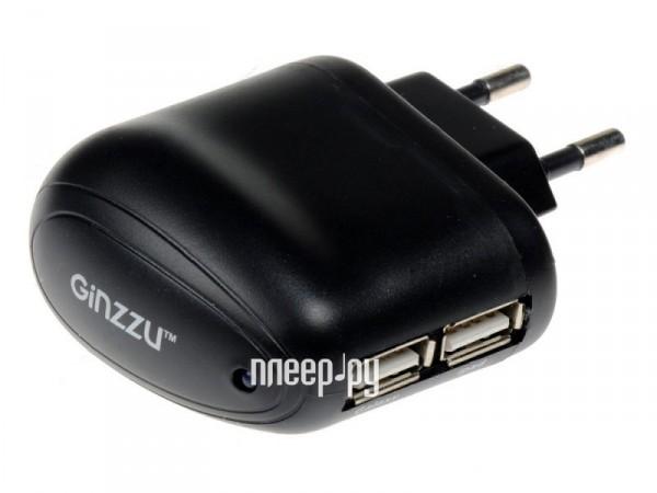 Зарядное устройство Ginzzu GA-3212UB 2xUSB 2500mAh сетевое
