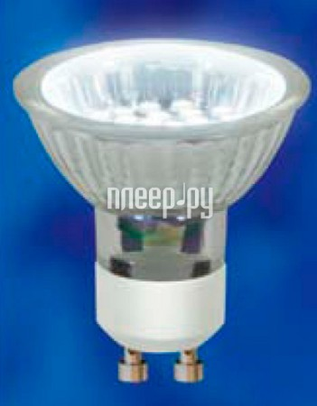 Лампочка Uniel LED-JCDR-SMD-2,4W/NW/GU10 180 Lm (белый, 4000–4500К)  Pleer.ru  100.000
