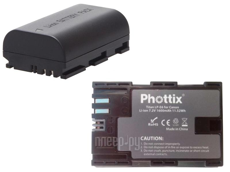 Аккумулятор Phottix LP-E6  Pleer.ru  1482.000
