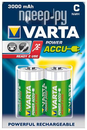 Аккумулятор C - Varta 3000mAh Power Accu (2 штуки) 56714  Pleer.ru  489.000