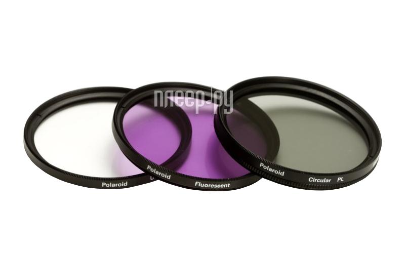 Светофильтр Polaroid UV-CPL-FLD 62mm - набор фильтров PL3FIL62  Pleer.ru  2440.000