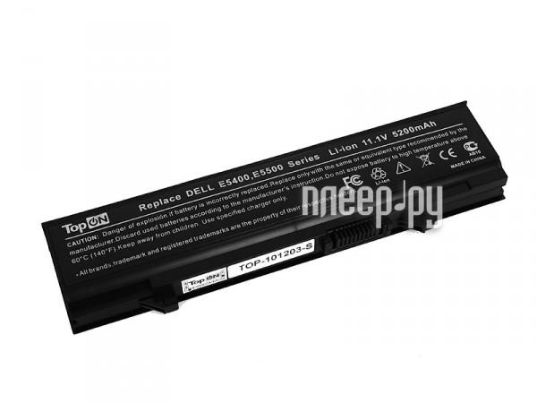 Аккумулятор TopON TOP-E5400 5200mAh for DELL Latitude E5400 / E5410 / E5500 / E5510 Series  Pleer.ru  1950.000