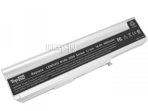 Аккумулятор TopON TOP-N100 / 40Y8317 4800mAh for Lenovo 3000 / N100 / N200 / C100 / C200 Series  Pleer.ru  1650.000