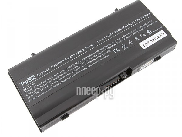 Аккумулятор TopON TOP-PA2522 / PA2522U 8800mAh – усиленный! for Toshiba Satellite 2450 / 2455 / A20 / A25 / A40 / A45 Series  Pleer.ru  2399.000