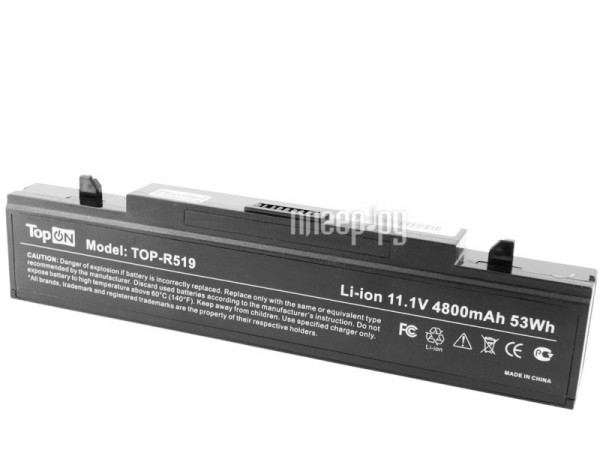 Аккумулятор TopON TOP-R519 / AA-PB9NS6B 11V 4400mAh / 4800mAh for Samsung R425 / R428 / R430 / R468 / R470 / R478 / R480 / R505  Pleer.ru  1847.000
