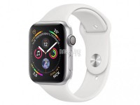 Умные часы APPLE Watch Series 4 40mm Silver Aluminium Case with White Sport Band MU642RU/A