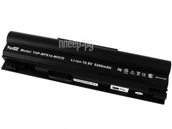 Аккумулятор TopON TOP-BPS14-NOCD 5200 mAh for Sony VAIO VGN-TT1 / VGN-TT2 / VGN-TT3 / VGN-TT4 / VGN-TT5 / VGN-TT7 / VGN-TT9 Series  Pleer.ru  2600.000