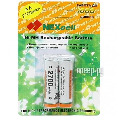 Аккумулятор AA - NEXcell 2700 mAh Ni-MH (2 штуки) AA2700/2pack  Pleer.ru  412.000