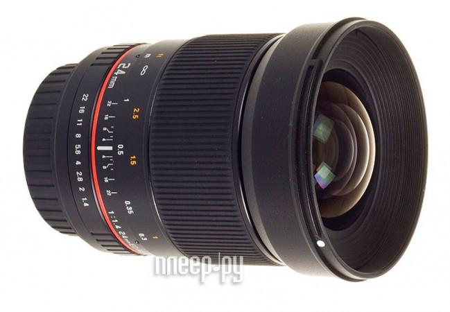Объектив Samyang Olympus PEN / Panasonic 4/3 MF 24 mm F/1.4  Pleer.ru  20458.000