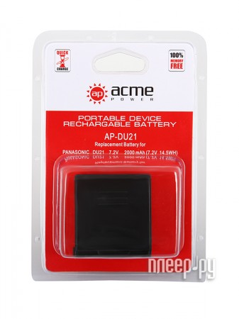 Аккумулятор AcmePower AP DU21  Pleer.ru  397.000