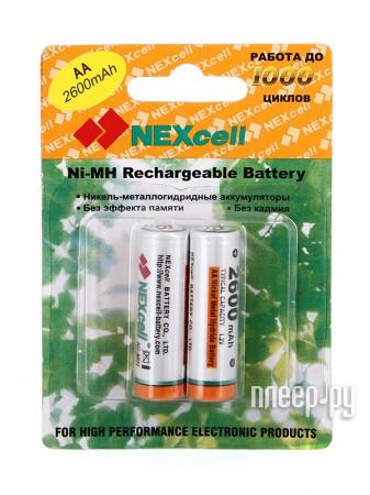 Аккумулятор AA - NEXcell 2600 mAh Ni-MH (2 штуки) AA2600/2pack  Pleer.ru  425.000