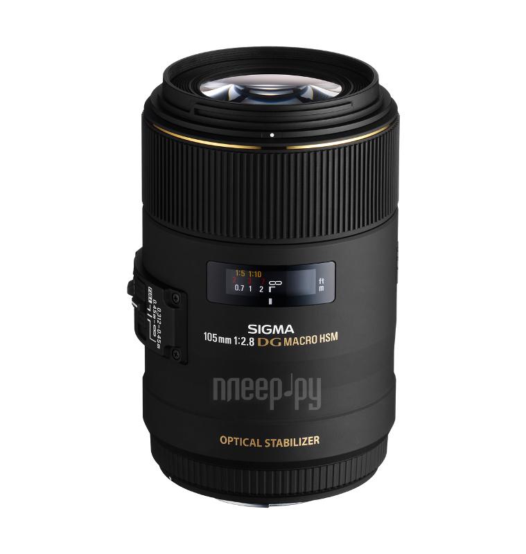 Объектив Sigma Nikon AF 105 mm F / 2.8 EX DG OS HSM Macro купить