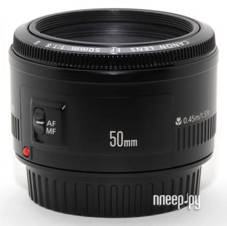 Объектив Canon EF 50mm f/1.8 II  Pleer.ru  3418.000