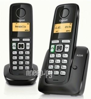 Купить Радиотелефон Gigaset A220 DUO Black
