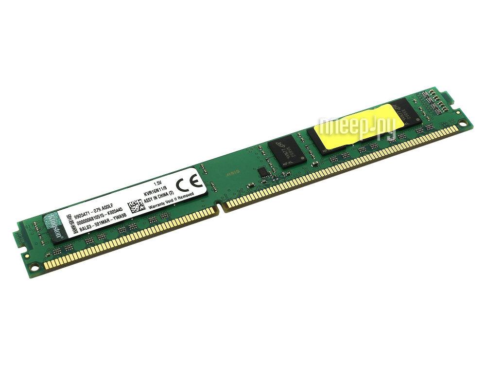 Модуль памяти Kingston PC3-12800 DIMM DDR3 1600MHz - 8Gb KVR16N11/8