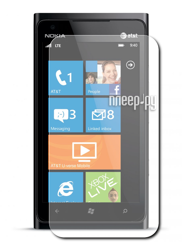 Аксессуар Защитная пленка Nokia Lumia 900 LuxCase антибликовая 80424  Pleer.ru  94.000