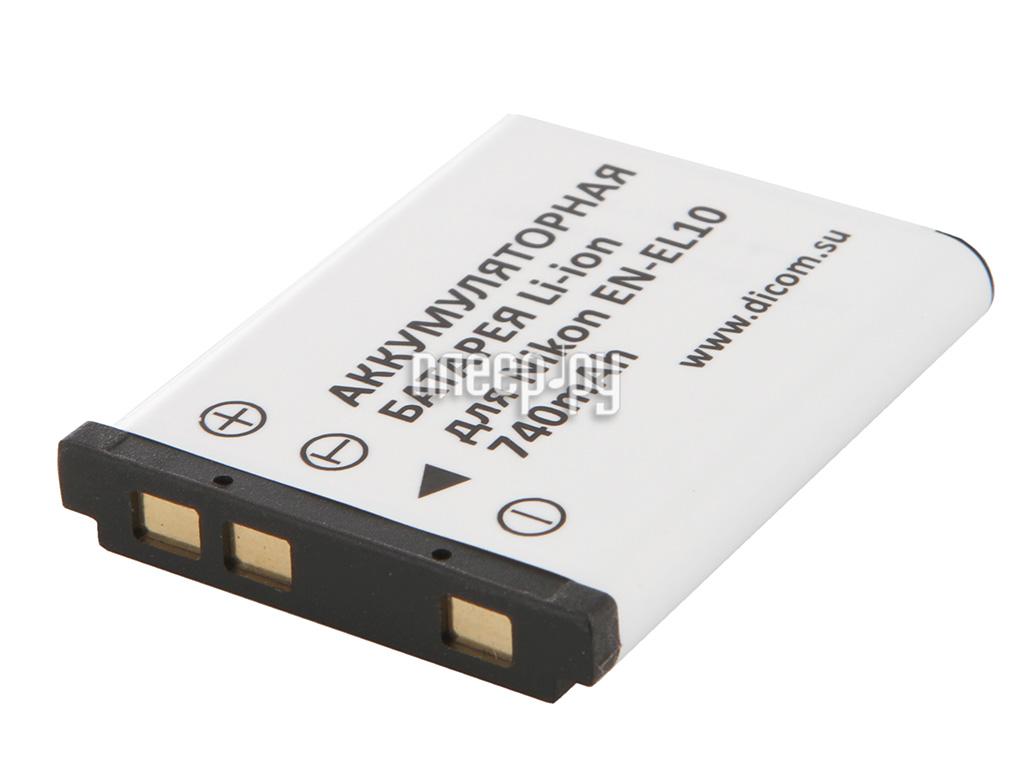 Аккумулятор Dicom DN-EL10  Pleer.ru  284.000