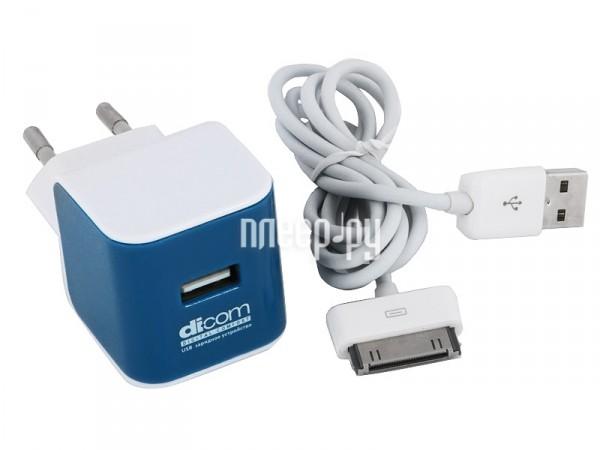 Аксессуар Зарядное устройство сетевое Dicom AD10A c кабелем  Pleer.ru  848.000