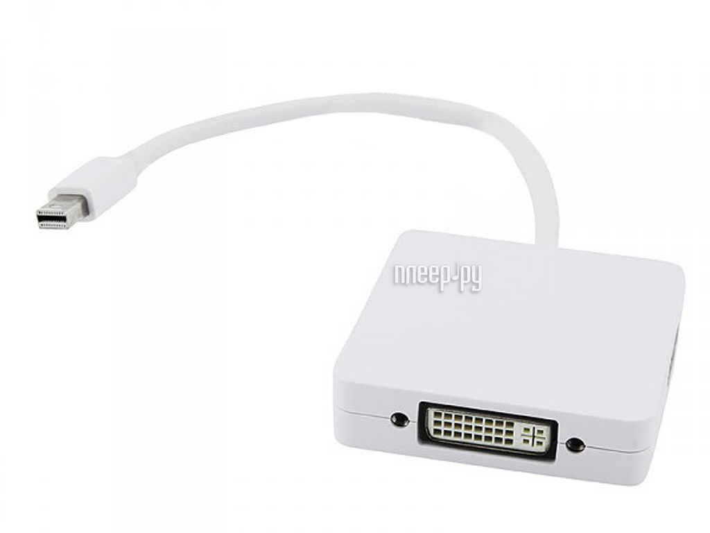 Аксессуар Espada MiniDisplay Port M to DVI-I/HDMI/DisplayPort F 20 cm EMDP-3in1 DPF20  Pleer.ru  997.000