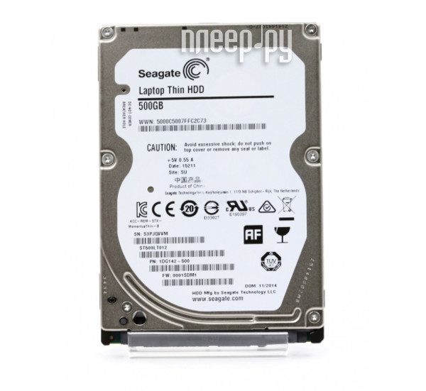 Жесткий диск 500Gb - Seagate ST500LT012 Laptop Thin