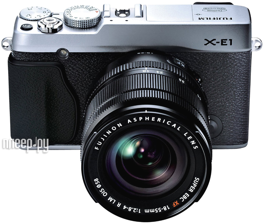 Фотоаппарат Fujifilm FinePix X-E1 Kit 18-55 Silver  Pleer.ru  32645.000