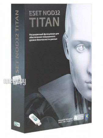 Программное обеспечение ESET NOD32 Titan Total Security 3Dt 1year NOD32-EST-NS-BOX-1-1  Pleer.ru  1284.000
