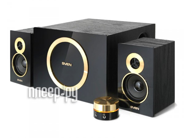 Колонки 2.1 Sven MS-1085 Gold Black  Pleer.ru  2118.000