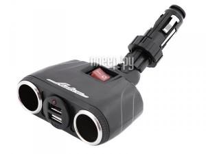 Купить Аксессуар Разветвитель прикуривателя на 2 гнезда и USB Airline ASP-2TU-08