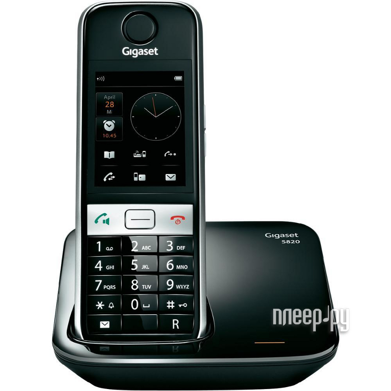 Радиотелефон Gigaset S820 Black  Pleer.ru  3128.000