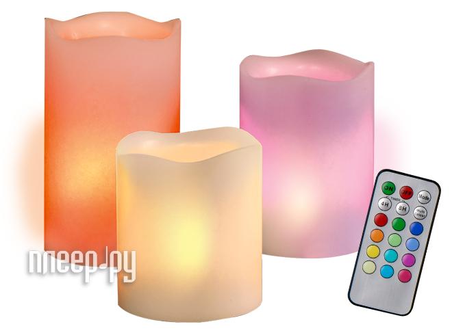 Светодиодная свеча Jazzway CL3-RGB-SET3  Pleer.ru  1090.000