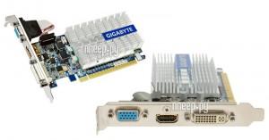Купить Видеокарта GigaByte GeForce 210 520Mhz PCI-E 2.0 1024Mb 1200Mhz 64 bit DVI HDMI HDCP GV-N210SL-1GI