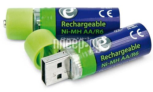 Аккумулятор AA - Energenie EG-BA-001 1500 mAh Ni-Mh USB (2 штуки)  Pleer.ru  638.000