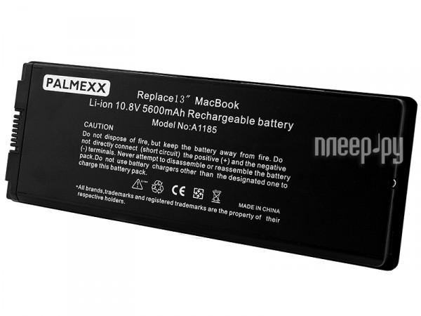 Аккумулятор APPLE Macbook 13.3 A1185 Palmexx 10.8V 55Wh PB-025 Black  Pleer.ru  2290.000
