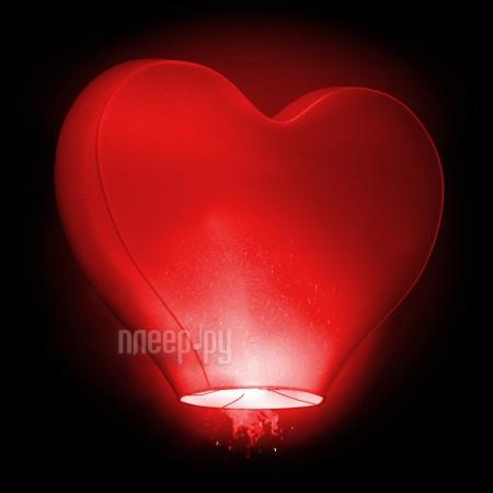 Небесный фонарик желаний Nebofon Сердце среднее 3D Red  Pleer.ru  393.000