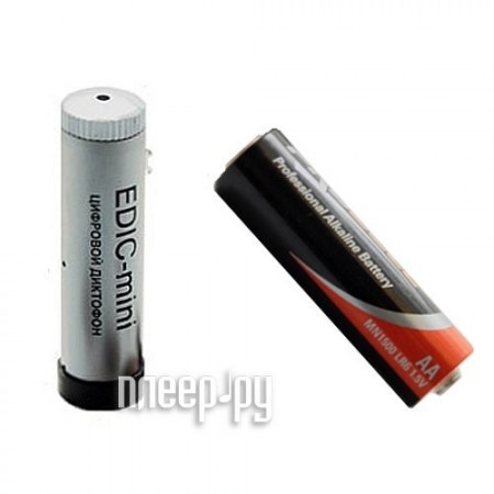 Диктофон Edic-mini Tiny-16 A63-300h - 2Gb Silver  Pleer.ru  7399.000