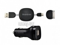 Avantree Hi-Power Dual USB Car Charger Set CGST-09 2100mA USBx2 �������������